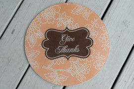 """Tempered Glass 12"""" Round Cutting Board - Personalized"""