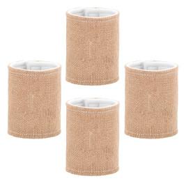 Set of 4 BLANK Burlap Drink Wraps