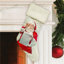 Santa's Christmas List Design Stocking