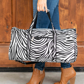 Zebra Print Personalized Duffel Bag
