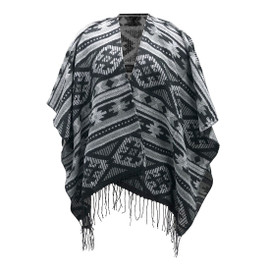 Black & White Aztec Kennedy Shawl Scarf