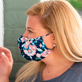 Floral Adjustable Face Mask