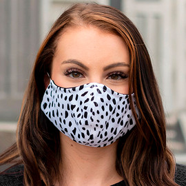 Spot On Black and White Adjustable Face Mask