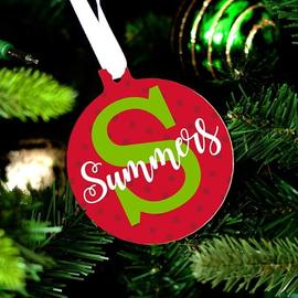 Personalized Dottie Christmas Ornament