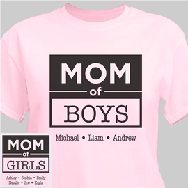 om of Boys / Mama of Girls Custom Personalized T-Shirt