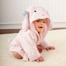 Parisian Collection - Pink Poodle Baby Bathrobe