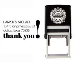 Self-Inking Personalized Address Stamp - CSA10008S