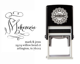 Self-Inking Personalized Address Stamp - CSA10019S