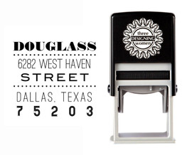 Self-Inking Personalized Address Stamp - CSA10022S