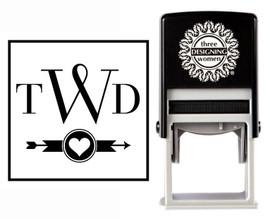 Custom Wedding Monogram Stamp CSM10011S