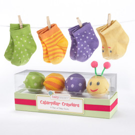Caterpillar Crawlers Baby Socks Gift Set (Size 0-6 Months)