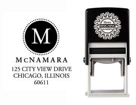 Self-Inking Personalized Monogram Address Stamp - CS3649