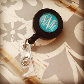 Monogrammed Badge Reel