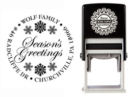 Snowflakes Self-Inking Personalized Address Stamp - CS3501_HH