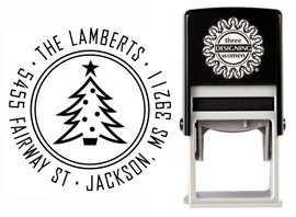 Christmas Tree Self-Inking Personalized Address Stamp - CS3513