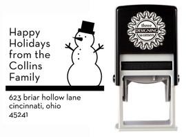 Snowman Self-Inking Personalized Address Stamp - CS3521