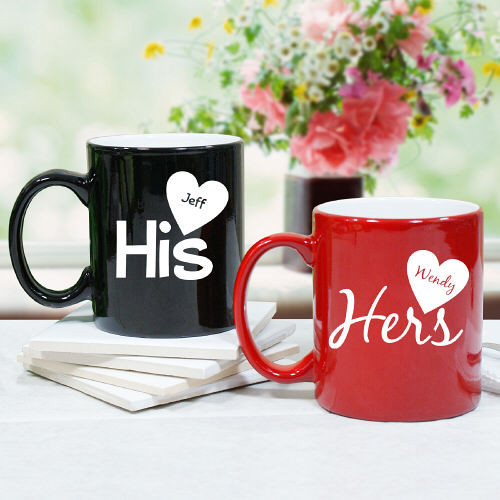 His and Hers Personalized Coffee Mug - Valentine's Day Gift