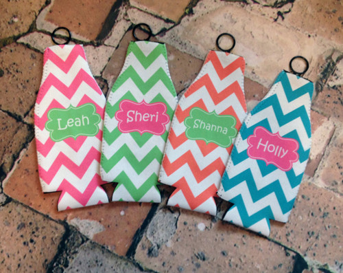 Personalized Bottle Koozie with Zipper