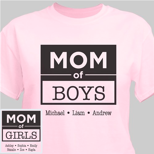 om of Boys / Mama of Girls Custom Personalized T-Shirt