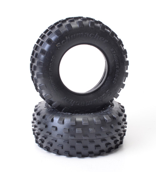 SHORT COURSE STAGGER RIB TIRES-YELLOW