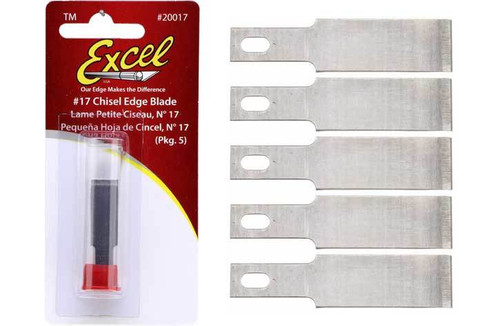 Excel #1 Chisel Blades B17 5 Pack