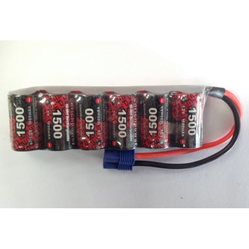 EP 7.2V NiMh 1500mAh 2/3A Stick Battery pack w/EC3 Lead