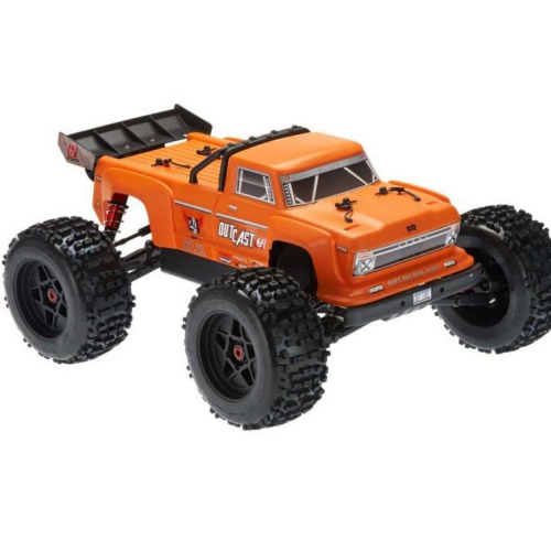AR106033 2018 1/8 Outcast Monster Stunt Truck 6S 4WD Orange RTR (No Battery or Charger) by ARRMA