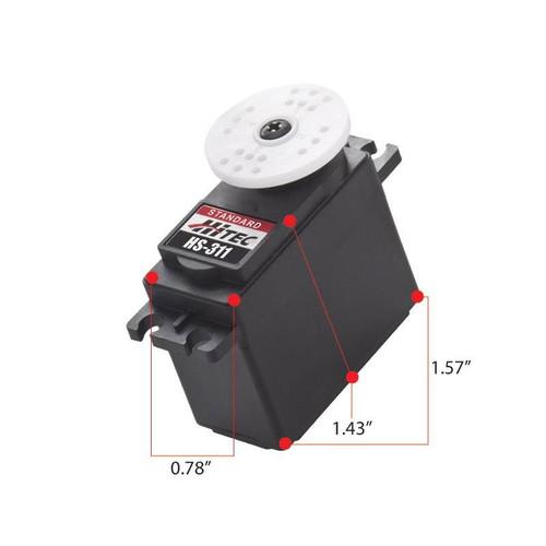 HS-311 Economy Servo, 43g, 4.8V 3.0kg/0.19 sec, 6.0V 3.7kg/0.15 sec, 40x20x36.5mm Universal by Hitec