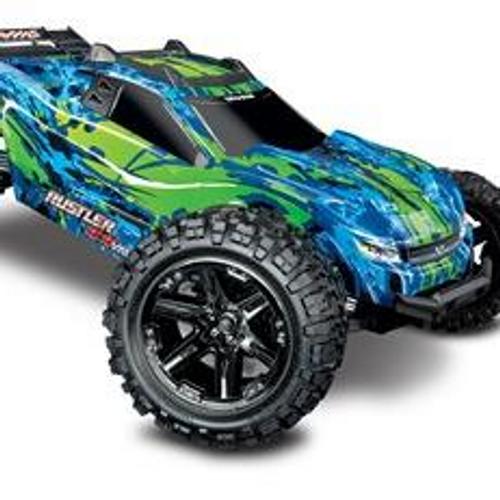 Traxxas 67076-4 - Rustler 4X4 VXL: 1/10 Scale Stadium Truck with TQi