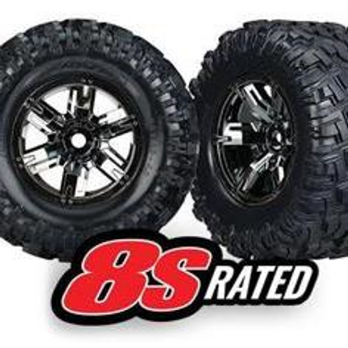 TRAXXAS 7772A - TIRES & WHEELS, ASSEMBLED, GLUED