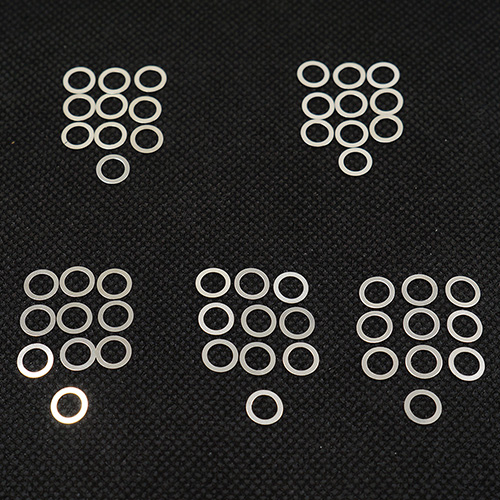 (#YA-0551) 5x7mm Stainless Steel Spacer Set 0.1 0.15 0.2 0.25 0.3mm