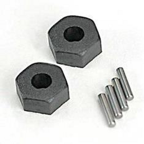 TRAXXAS 1654 - WHEEL HUBS, HEX (2)/ STUB AXLE PINS (2)