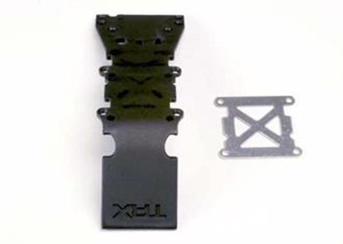 Traxxas 4937 - Skidplate, Front Plastic (Black)/ Stainless Steel Plate