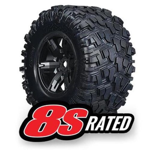 TRAXXAS 7772X - TIRES & WHEELS, ASSEMBLED, GLUED