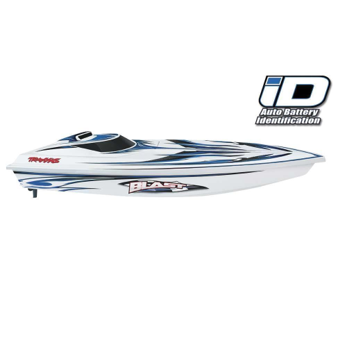 Traxxas 38104-1 - Blast RTR Boat White/Blue w/iD Connector