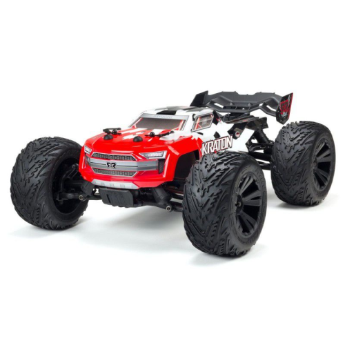 1/10 Kraton 4x4 4S BLX 80+km/h Monster Truck, Red/White by Arrma. SRP$788