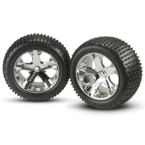 "TRAXXAS 3770 - TIRES & WHEELS, ASSEMBLED, GLUED (2.8"") (ALL-STAR CHROM"