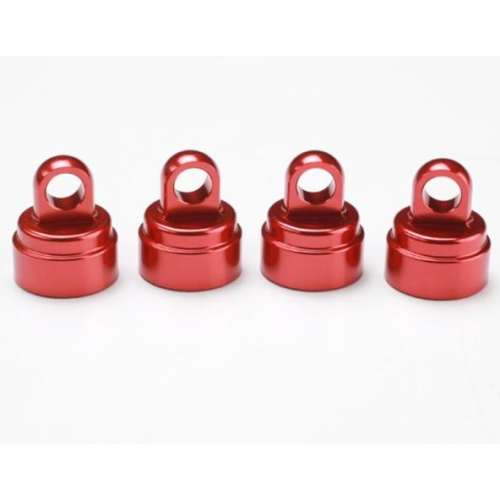 TRAXXAS 3767X - RED-ANODIZED ALUMINUM SHOCK CAPS