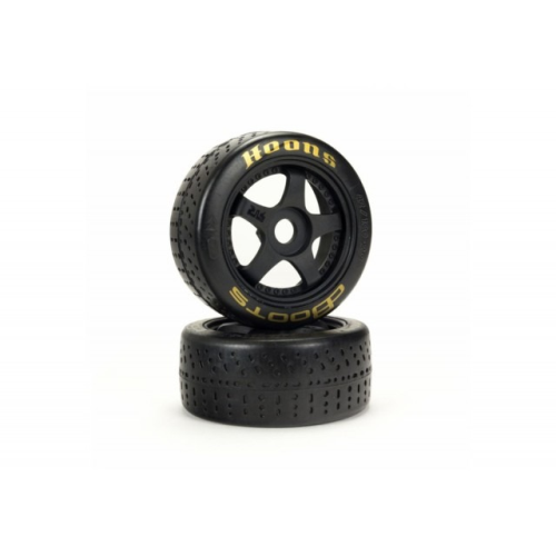 1/7 dBoots Hoons 42/100mm Gold (Soft Compound) Belted Tires with 2.9 5-Spoke Wheels, 17mm Hex (2)
