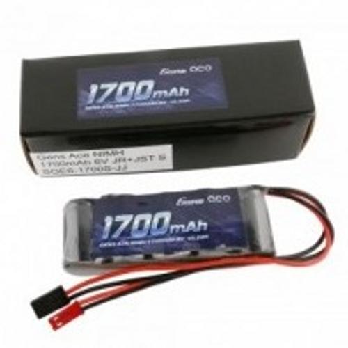 Gens Ace 6.0V 1700mAh 2/3A x 5 NiMh Flat RX Battery Pack with Dual JR-JST Plug 125g