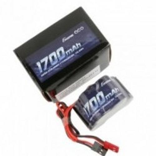 Gens Ace 6.0V 1700mAh 2/3A x 5 NiMh HUMP RX Battery Pack with Dual JR-JST Plug 125g