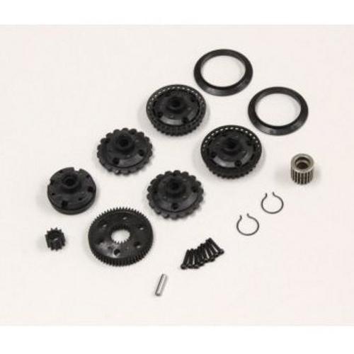 Diff Gear Case & Pulley (OPTIMA) OT208
