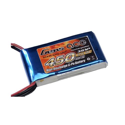 GENS ACE 450MAH 11.1V 25C JST