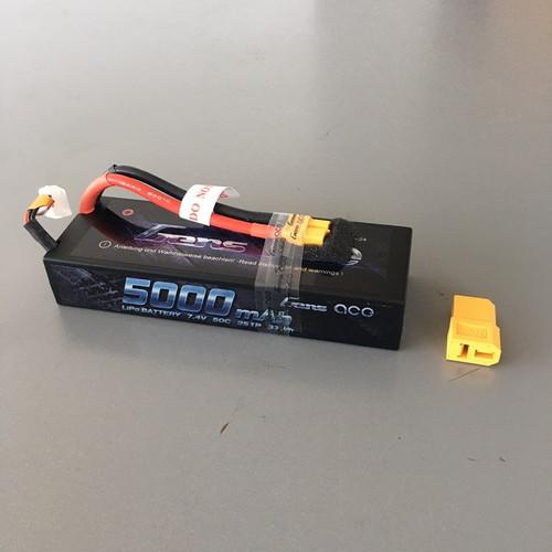Gens Ace 5000mAh 2S 7.4v 50C Hard Case Lipo Battery With XT60 Plug