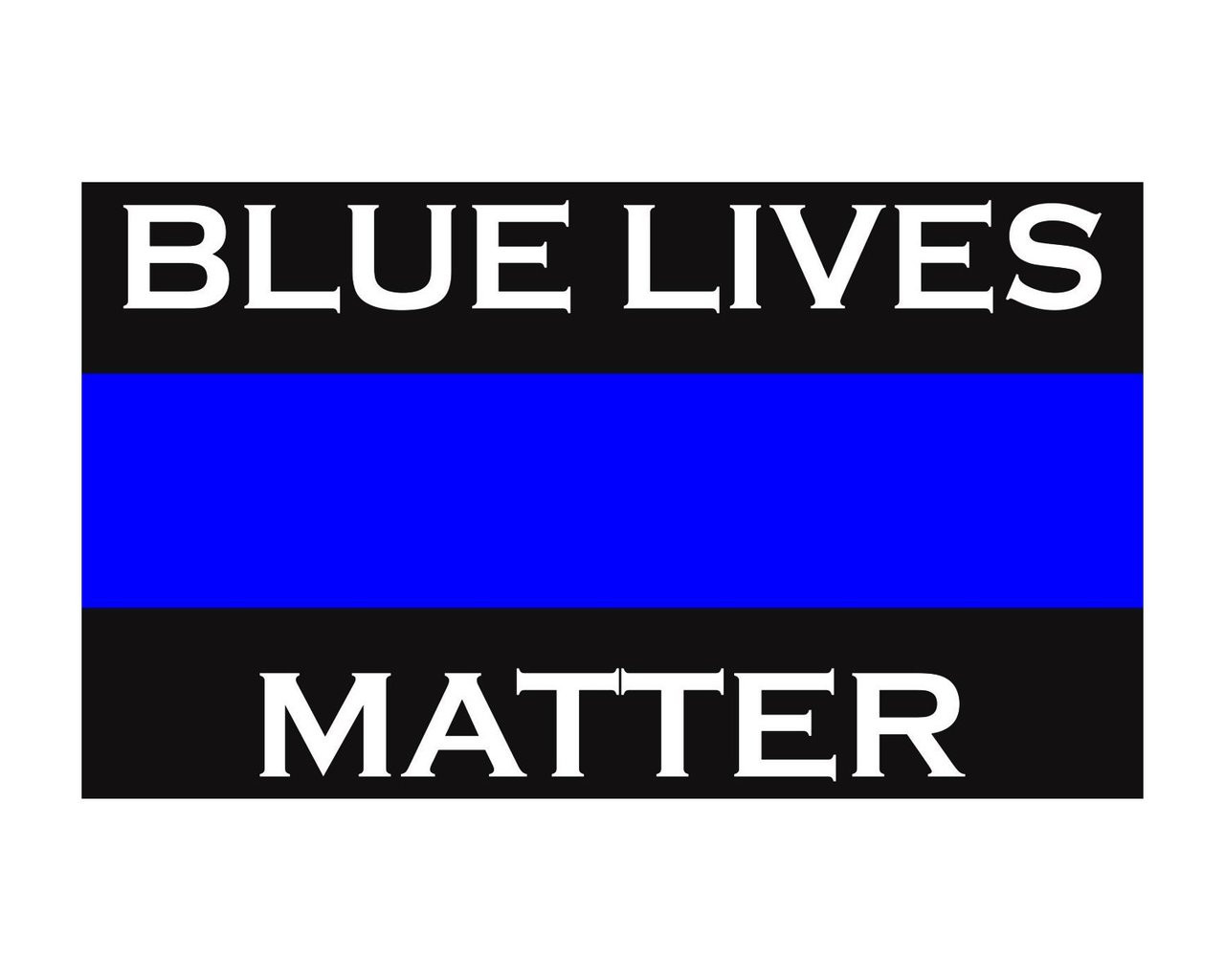 Blue Lives Matter Thin Blue Line Police Support Vinyl Decal Sticker 3x5 For Cars Trucks Laptops Etc