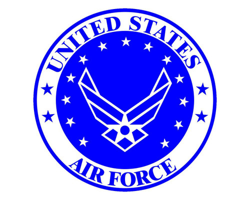 Air Force Emblem USAF Logo Vinyl Decal Sticker for Cars Trucks Laptops etc.  Round