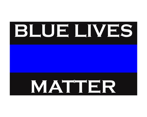 Blue Lives Matter Thin Blue Line Police Support Vinyl Decal Sticker 3x5 for Cars Trucks Laptops etc. …