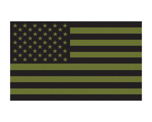 O.D. Green American Flag Military US Flag Vinyl Decal Sticker Cars, Trucks, 3x5