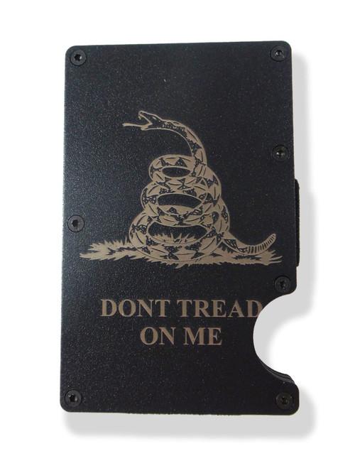 Dont Tread on Me Wallet Engraved RFID Blocking Thin Card Organizer w/ Money Clip