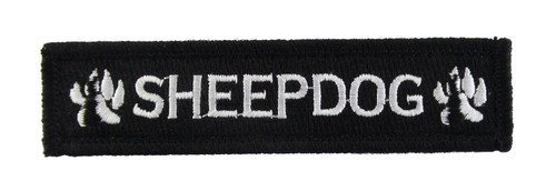 Sheepdog 1x4 Velcro Fully Embroidered Morale Tags Patch